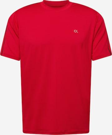 Tricou funcțional de la Calvin Klein Performance pe roșu