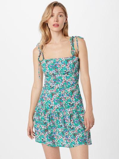 Trendyol Kleid in royalblau / jade / hummer / pink / weiß, Modelansicht