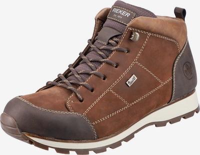 RIEKER Čizme na vezanje u smeđa / karamela / bijela, Pregled proizvoda