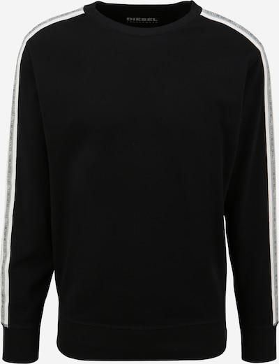 DIESEL Sweatshirt 'WILLY' in de kleur Zwart / Wit, Productweergave