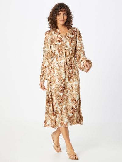 MOS MOSH Košeľové šaty 'Valley Poppy' - béžová / hnedá, Model/-ka