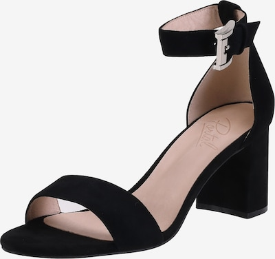 Ekonika Elegante Riemchenschuhe aus echtem Leder in schwarz: Frontalansicht