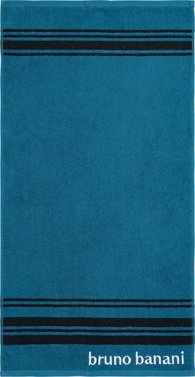 BRUNO BANANI Handtuch in petrol / schwarz / weiß, Produktansicht