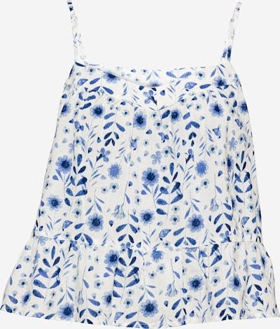 Bluză 'SWING PEPLUM' GAP pe albastru / offwhite, Vizualizare produs