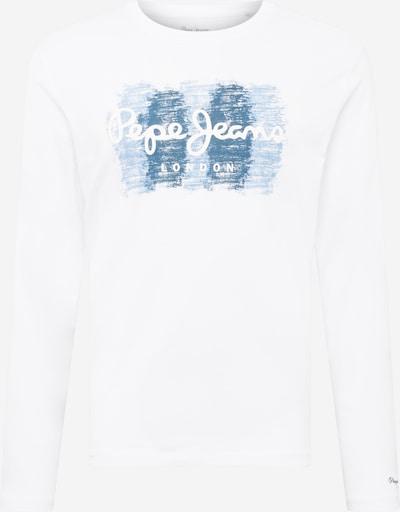 Pepe Jeans Shirt 'SEBASTIAN' in taubenblau / dunkelblau / weiß, Produktansicht