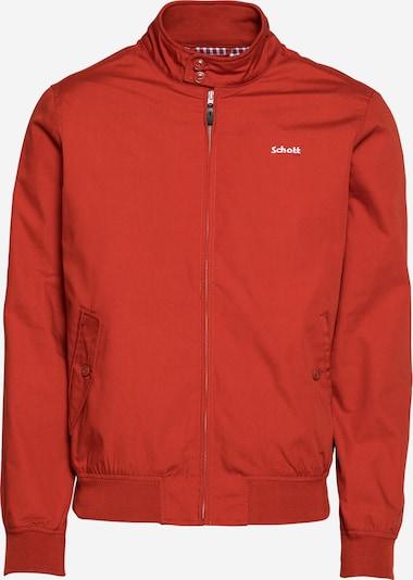 Schott NYC Tussenjas in de kleur Rood, Productweergave