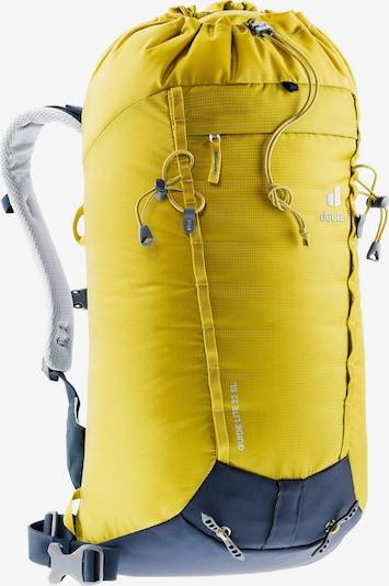DEUTER Kletterrucksack 'Guide Lite' in navy / gelb / grau, Produktansicht