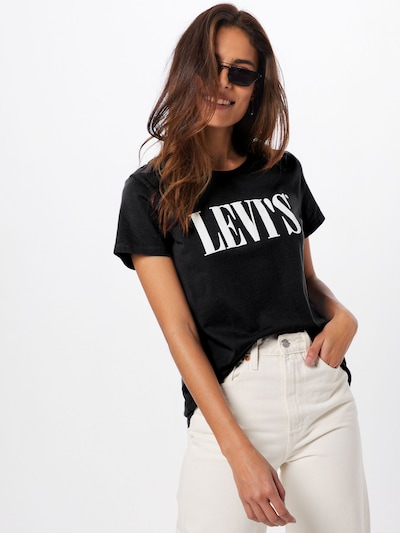 LEVI'S Shirt 'THE PERFECT TEE' in schwarz: Frontalansicht
