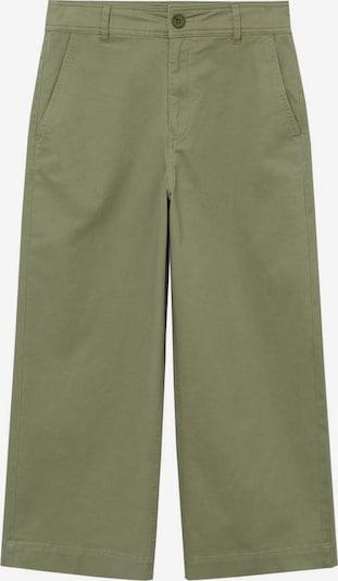 MANGO Pantalon 'Garden' en kaki, Vue avec produit