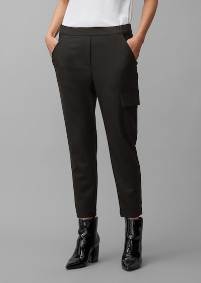 Marc O'Polo Pure Hose in schwarz: Frontalansicht