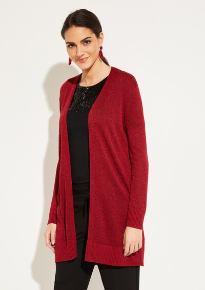 COMMA Strickjacke in rot: Frontalansicht