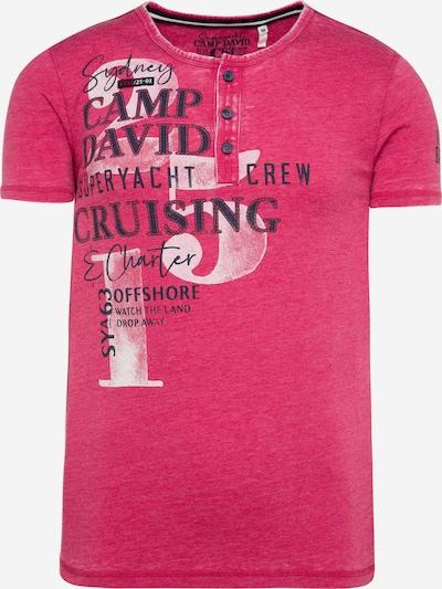 CAMP DAVID Shirt in pink / schwarz / weiß, Produktansicht