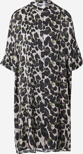 Frogbox Kleid in hellgrau / grün / schwarz, Produktansicht