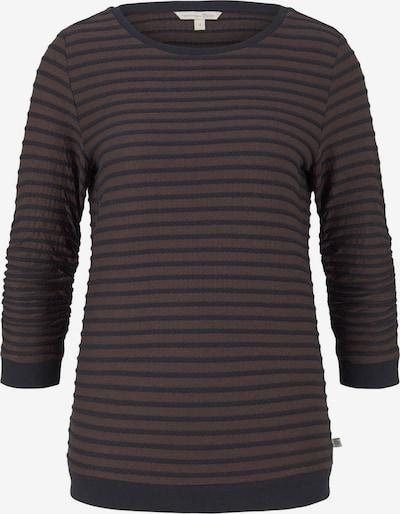 TOM TAILOR DENIM Sweatshirt in Dark blue / Dark brown, Item view