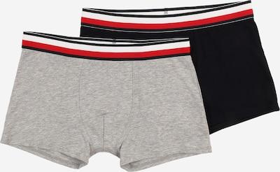Tommy Hilfiger Underwear Boxershorts in dunkelblau / graumeliert / hellrot / weiß, Produktansicht