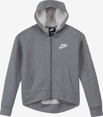 Nike Sportswear Fleece jacket in Grey
