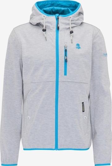 Schmuddelwedda Functionele jas in de kleur Lichtblauw / Grijs gemêleerd: Vooraanzicht
