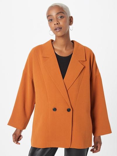 Švarkas 'Silka' iš minus, spalva – ruda (konjako), Modelio vaizdas