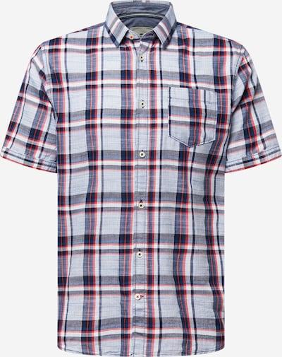 TOM TAILOR Hemd in marine / hellblau / rot, Produktansicht