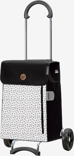 Andersen Shopper Einkaufstrolley 'Tuva' in schwarz / weiß, Produktansicht
