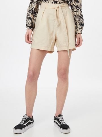 EDC BY ESPRIT - Pantalón plisado en beige