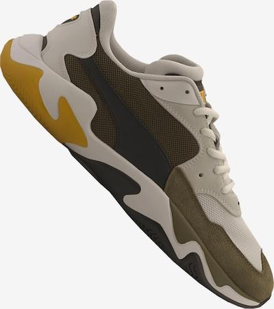 PUMA Sneaker in gelb / anthrazit / hellgrau / khaki: Frontalansicht