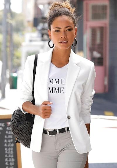 LASCANA Blazer in weiß, Modelansicht