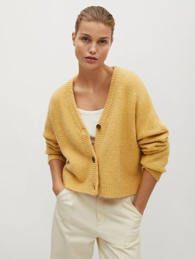 MANGO Strickjacke 'Vinson' in gelb, Modelansicht