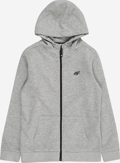 4F Sport-Sweatjacke in grau, Produktansicht