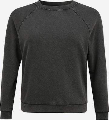 ONLY Carmakoma Sweatshirt 'ZIPA' i svart
