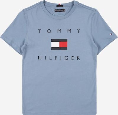 TOMMY HILFIGER T-Shirt en bleu / rouge feu / blanc, Vue avec produit