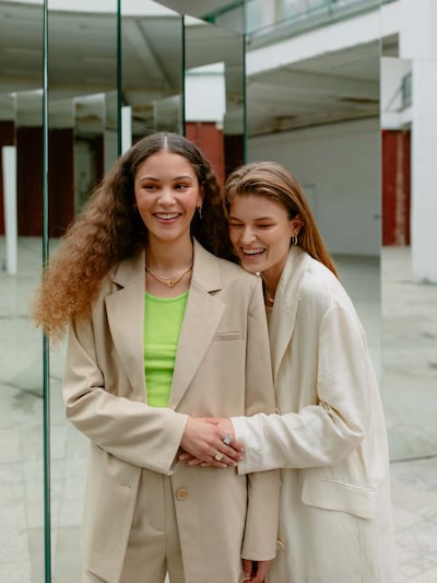 Sacou 'Enie' LeGer by Lena Gercke pe bej, Vizualizare model