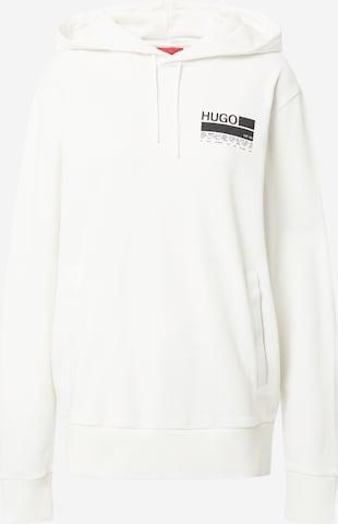 balts HUGO Sportisks džemperis 'Dasweater'