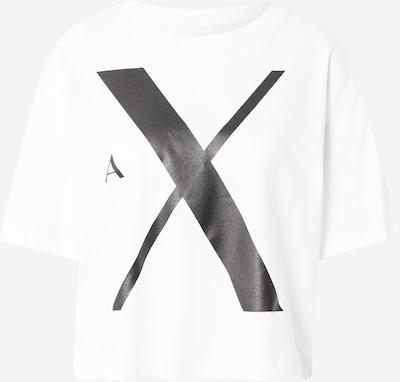 Tricou ARMANI EXCHANGE pe negru / alb murdar, Vizualizare produs