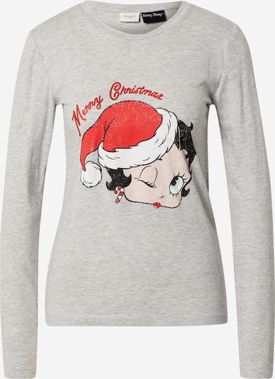 JACQUELINE de YONG Shirt 'Southpole' in grau / rot / schwarz / weiß, Produktansicht