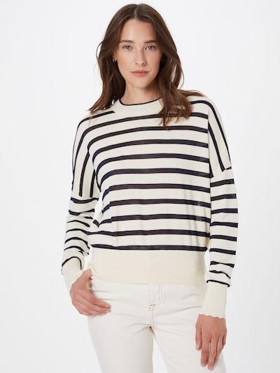 SCOTCH & SODA Sweater in Night blue / Wool white, View model