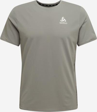 Tricou funcțional 'Zeroweight' ODLO pe gri fumuriu / alb, Vizualizare produs