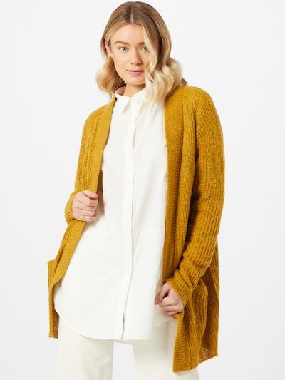 JACQUELINE de YONG Strickjacke 'Miggy Megan' in senf, Modelansicht
