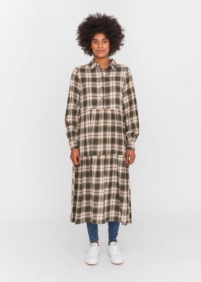 Noisy may Kleid 'Erik' in braun / oliv / weiß, Modelansicht