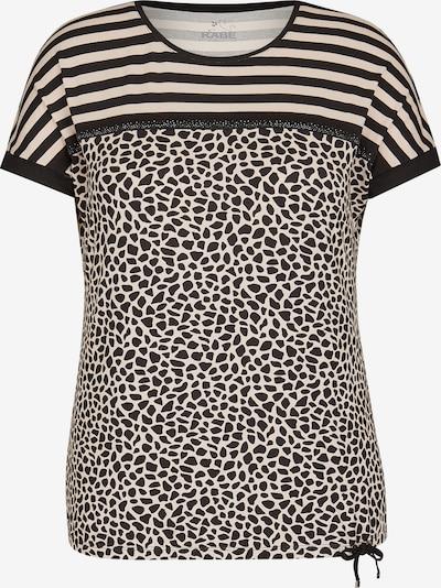 Rabe Shirt mit Glitzersteinen und exotischem Muster-Mix in hellbeige / schwarz, Produktansicht
