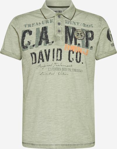 CAMP DAVID Poloshirt in graphit / khaki / apricot, Produktansicht