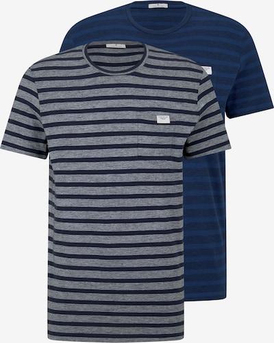 TOM TAILOR Shirt in de kleur Donkerblauw / Grijs, Productweergave