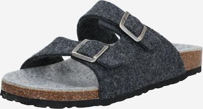 Sandale 'BIACAS' Bianco pe gri / negru, Vizualizare produs