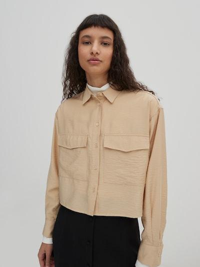 EDITED Bluse 'Kalani' i beige, Modelvisning
