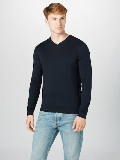 s.Oliver BLACK LABEL Pullover in dunkelblau: Frontalansicht