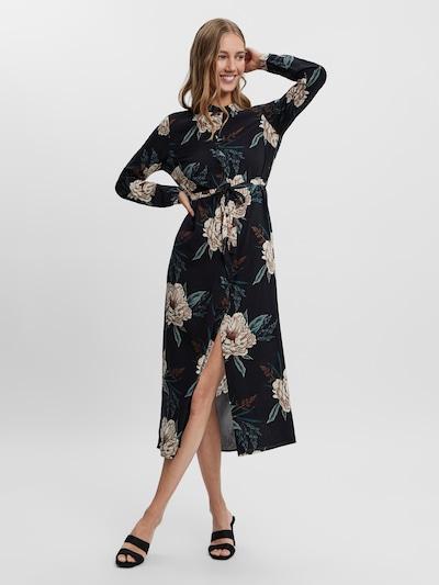 VERO MODA Kleid in beige / dunkelbeige / pastellblau / schwarz, Modelansicht