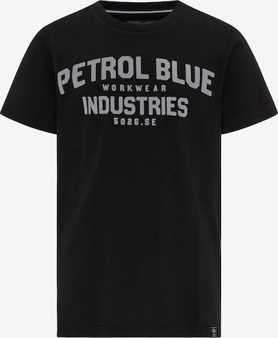 Petrol Industries T-Shirt in hellgrau / schwarz, Produktansicht