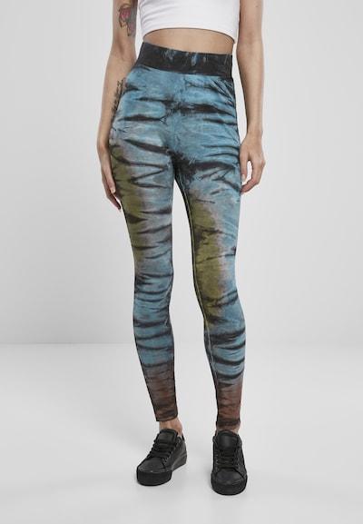 Leggings Urban Classics di colore blu cielo / marrone scuro / verde chiaro / nero, Visualizzazione modelli