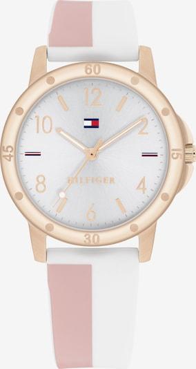 TOMMY HILFIGER Uhr in gold / altrosa / weiß, Produktansicht