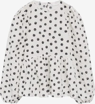 MANGO KIDS Bluse 'Topin' in schwarz / weißmeliert, Produktansicht